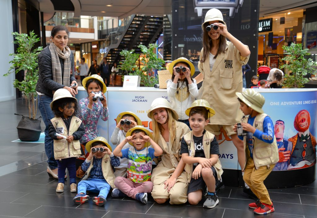 Missing Link experiential activation in shopping centre
