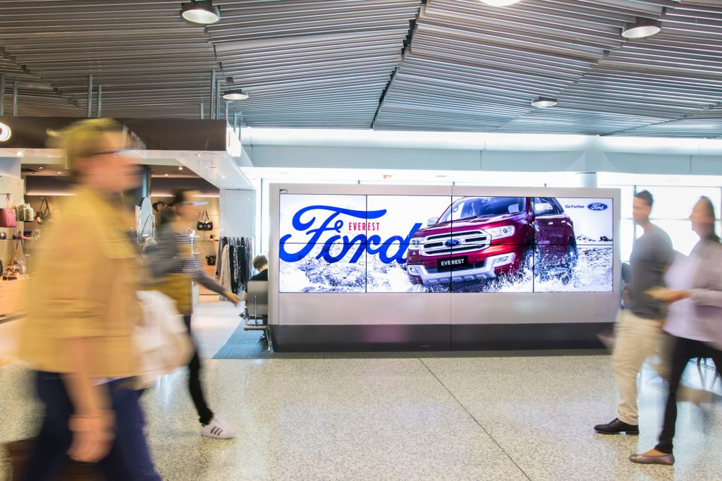 Ford fly advertising at airport
