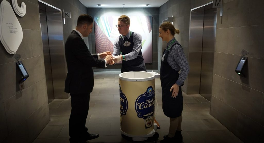 Experiential Office Sampling in CBD Office Tower for Dairy Farmers
