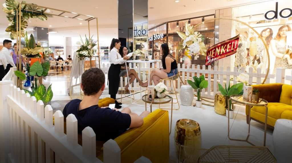 Experiential Retail Activation in Shopping Centre for Henkell