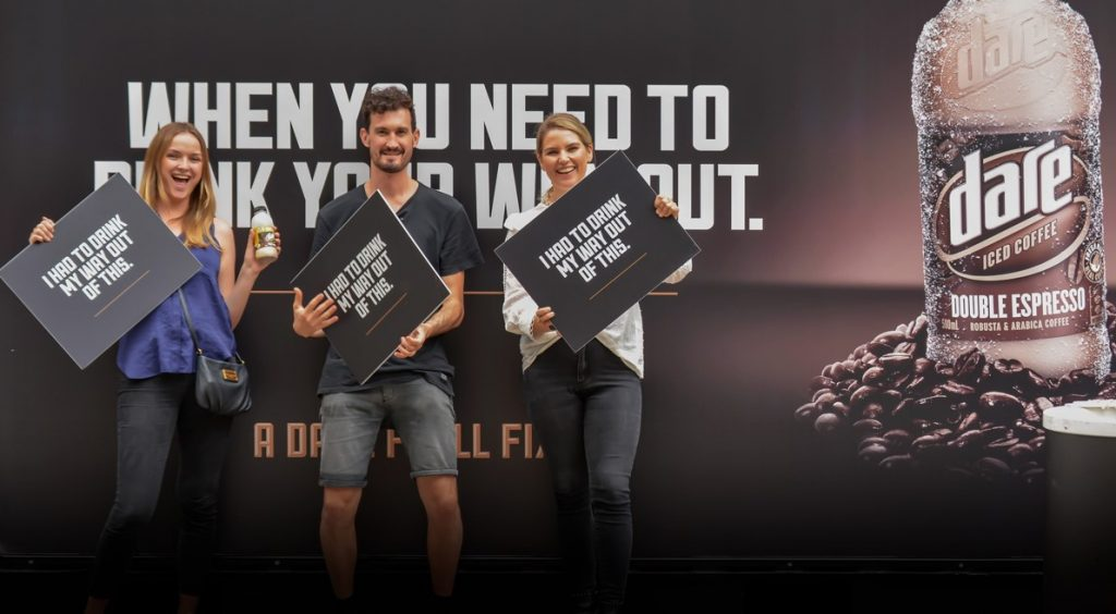 Experiential University Activation for Dare Iced Coffee