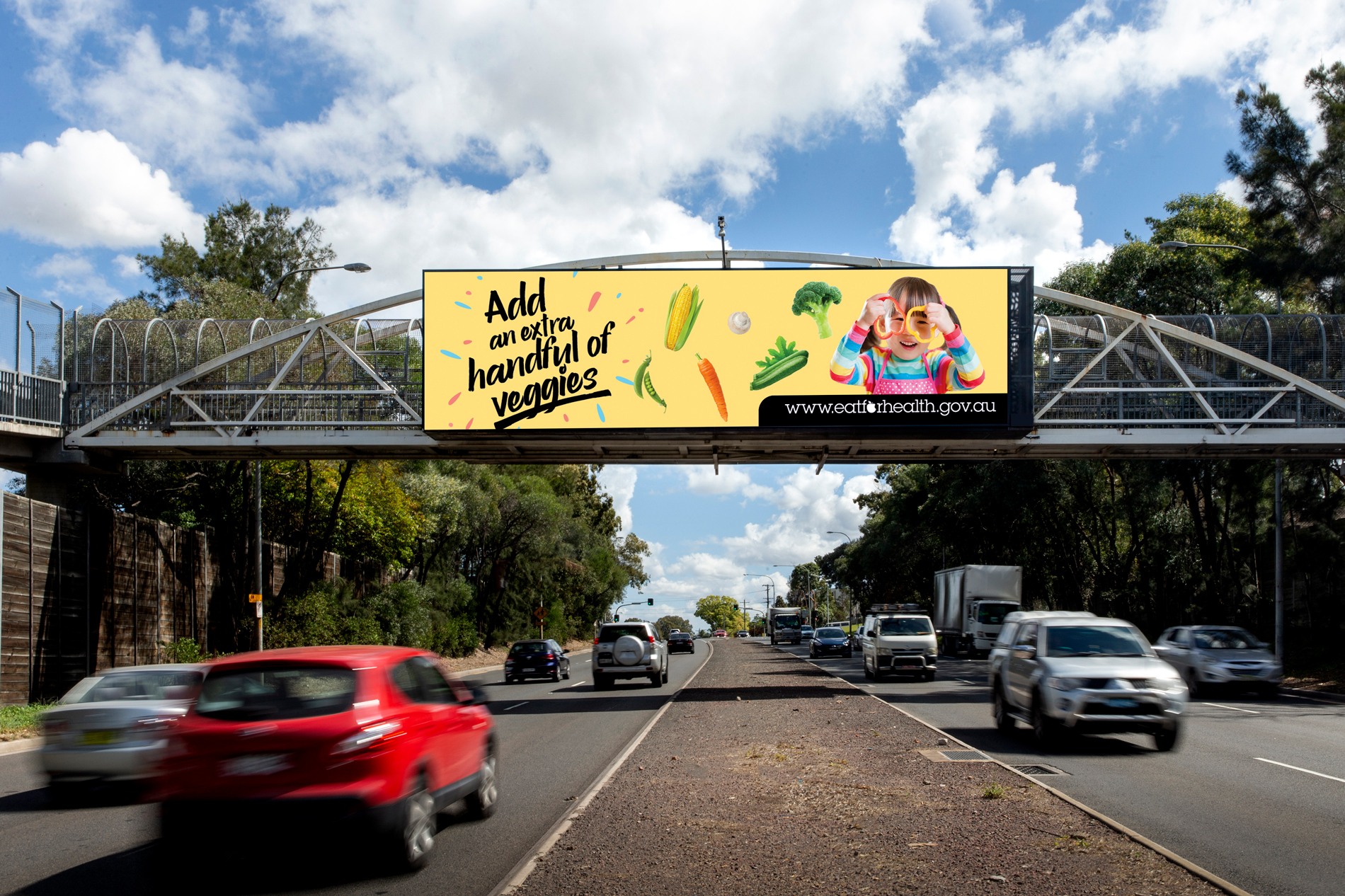Outdoor Media Association Health Campaign advertising on billboard
